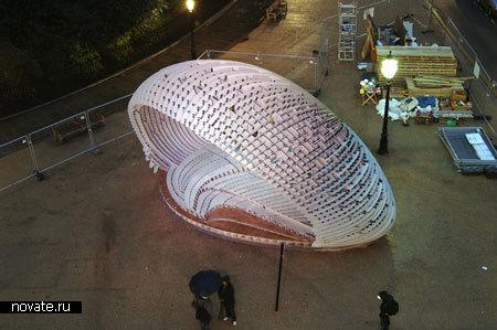 CSPACE Pavilion, выигравший конкурс Архитектурной Ассоциации в Лондоне