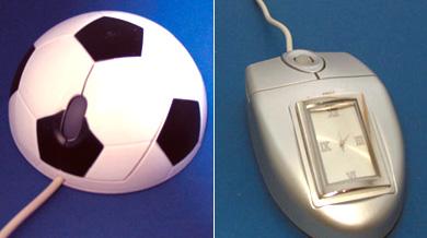 Мышь-футбольный мяч и мышь-часы, которые не попали в наш обзор