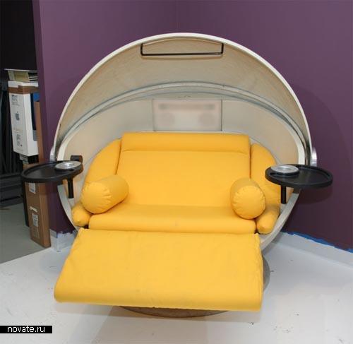 Кресло Sunball из полусфер для отдыха на даче