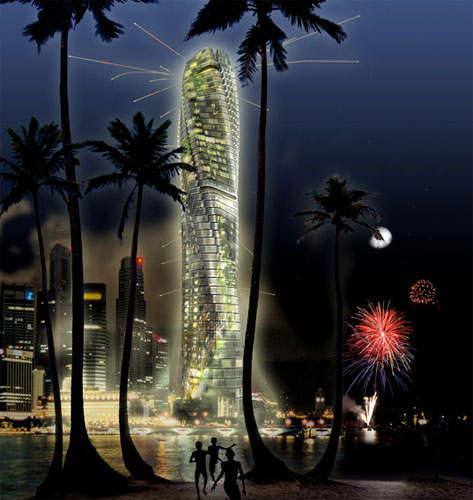 Вращающаяся башня Дэвида Фишера в Дубае