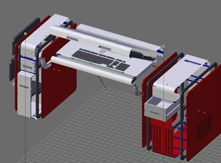 Компьютерный стол от Гаретта Баттерсби