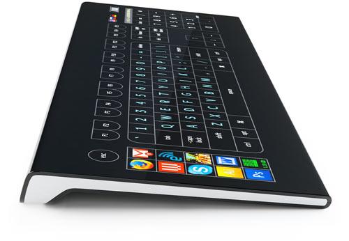 Клавиатура Optimus Taktus, вид сбоку