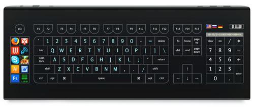 Клавиатура Optimus Taktus, режим ввода текста