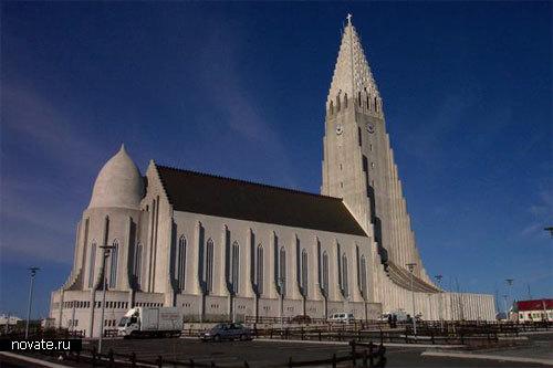 Собор Hallgrímskirkja в Исландии