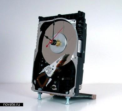 Настольные часы на базе жесткого диска