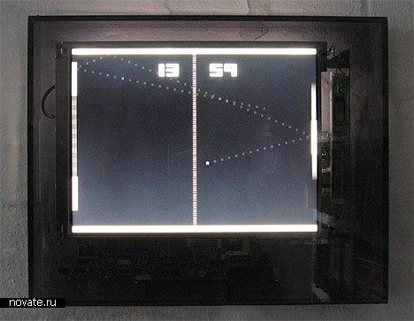 Часы, показывающие время как счет пинг-понговой партии