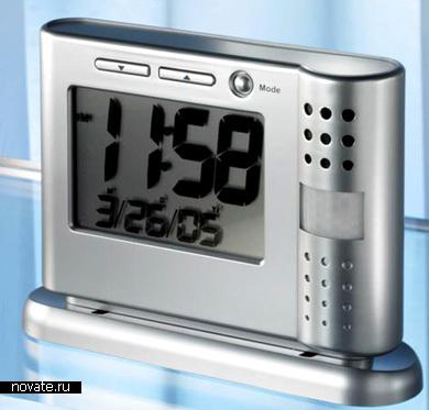 Шпионские часы с видеокамерой, реагирующей на движение