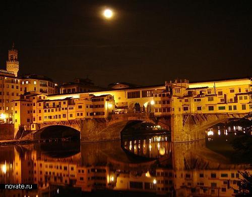 Старейший полностью каменный мост европы - Ponte Vecchio