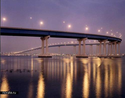 Мост Сан-Диего - Коронадо с 90-градусным поворотом