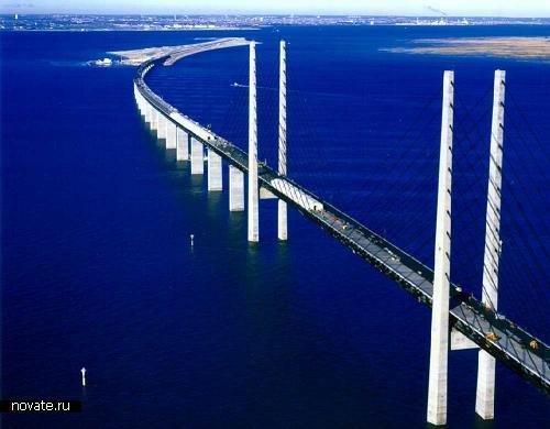 Мост Оресунд соединяет Данию и Швецию