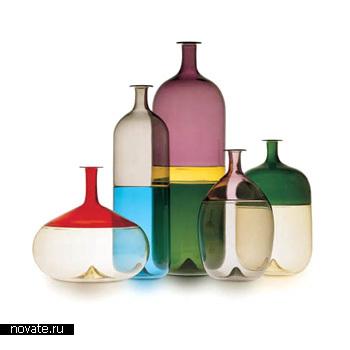 Вазы в виде бутылок различных форм и объемов