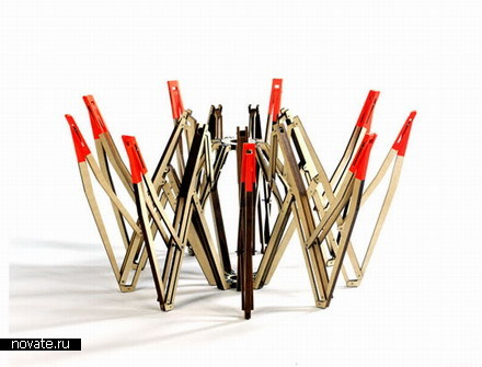 Стол-зонт со складными ножками