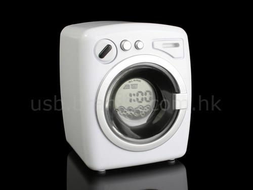 Миниатюрная стиральная машина с часами, будильником и таймером