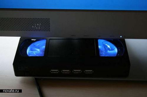 USB-хаб с подсветкой из видеокассеты своими руками