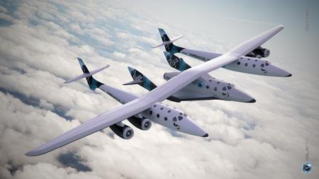 Частный туристический космический корабль SpaceShipTwo в составе курьерского корабля White Knight Two