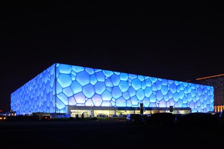 Водный куб - плавательный бассейн для Олимпийских Игр