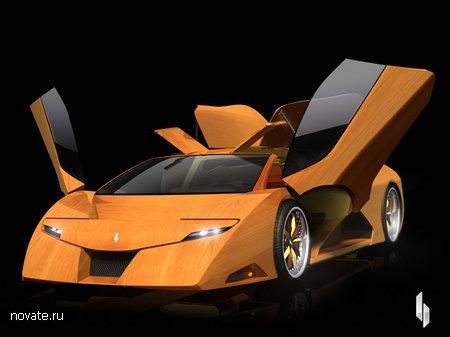Первый в мире скоростной деревянный автомобиль «Splinter»