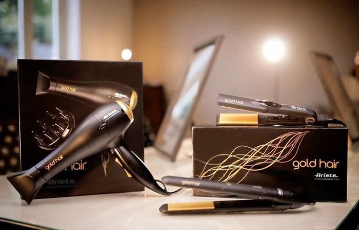 Фeн для волос профессиональный с диффузором с ионизацией для укладки Ariete Gold Hair Professional Finish Hairdryer.