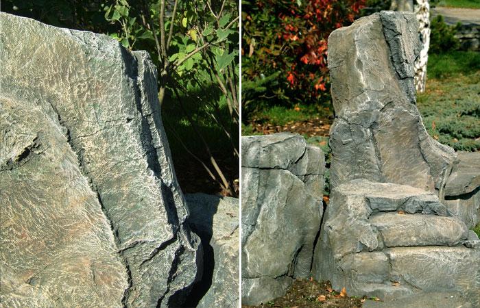 Каменная композиция из арт-бетона.
