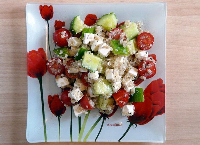 Сытный салат с крупой.