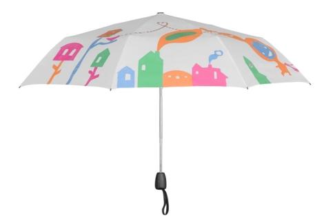 """19555. Помимо подарка: Зонты меняющие цвет  """"Домики """" белый, вы можете."""