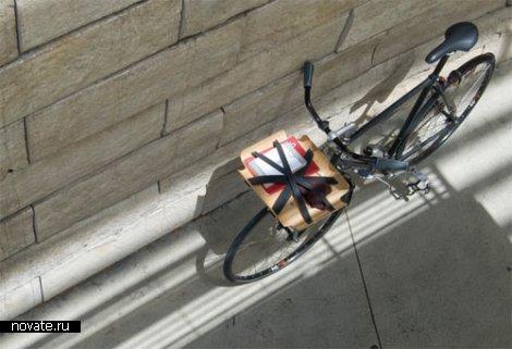Выгнуть дерево под велосипед. Универсальный багажник