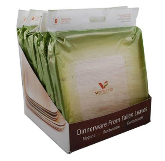 Экологически чистая посуда из опавших листьев Dinnerware