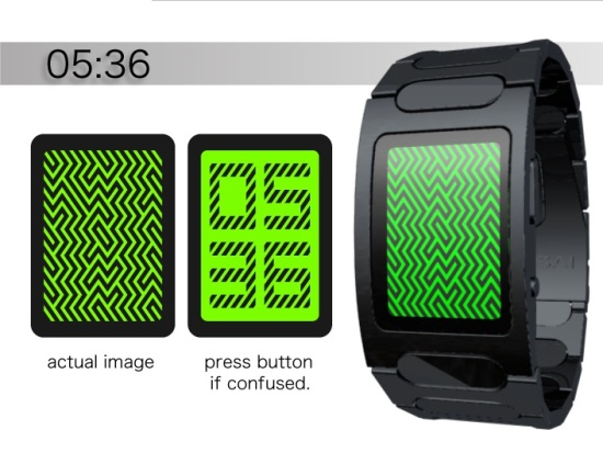 Светодиодные часы Optical Illusion от TokyoFlash