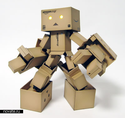 Картонный мини-робот Amazon.co.jp