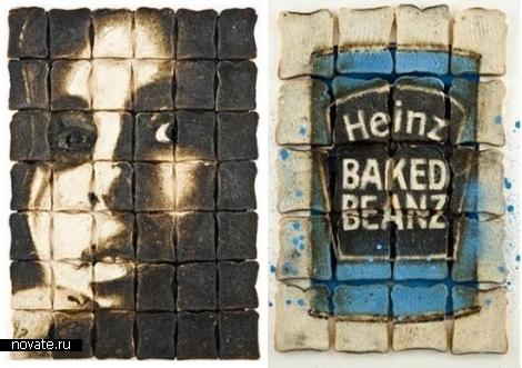 Картины из тостов Lennie Payne.