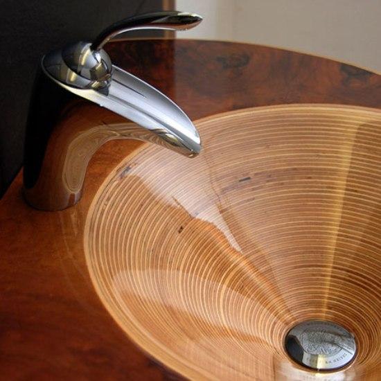 Деревянная раковина от Ammonitum