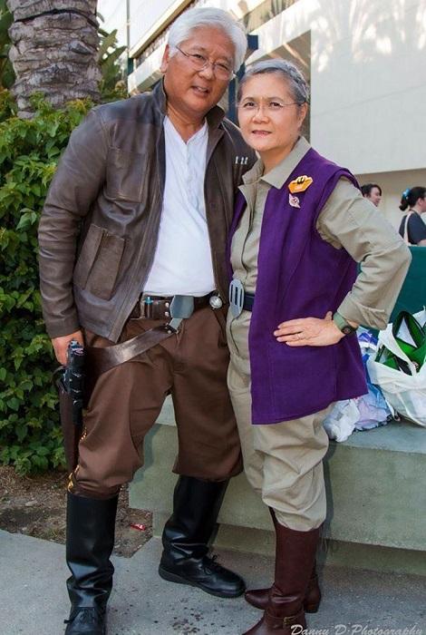 Лея Органа-Соло и Хан Соло из «Звёздных войн»