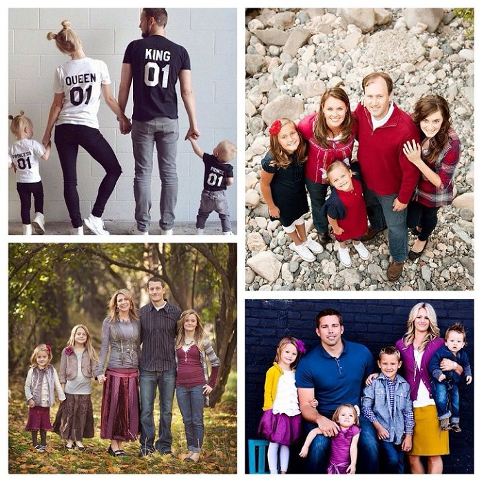 При создании family look можно учитывать интересы каждого члена семьи