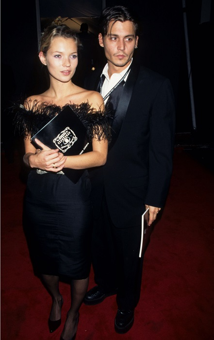Джонни Депп и Кейт Мосс 1998 год