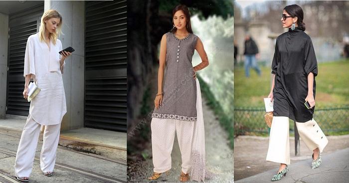 b9ea8fe4417 Платье и широкие брюки - сочетание для смелых женщин