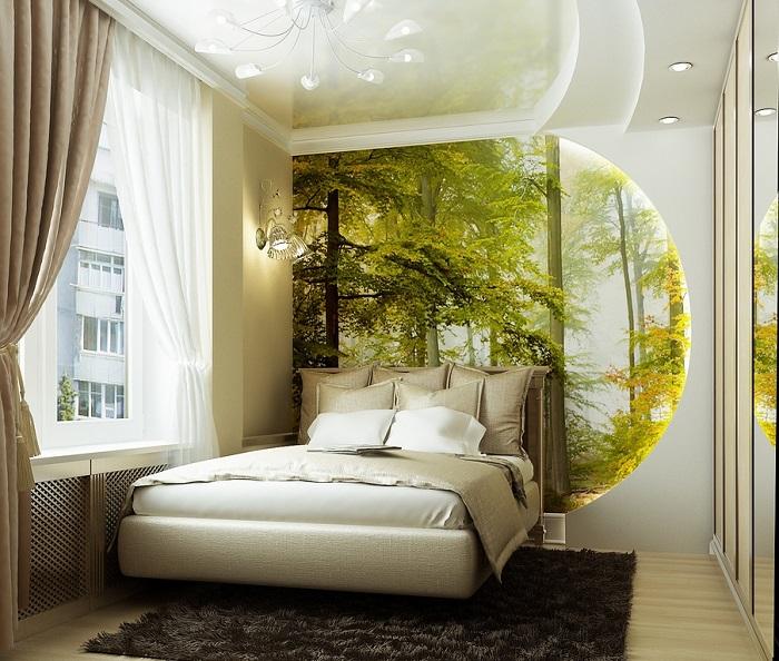 Спальня для тех, кто обожает природу
