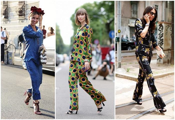 Принт в пижамном стиле очень разнообразен