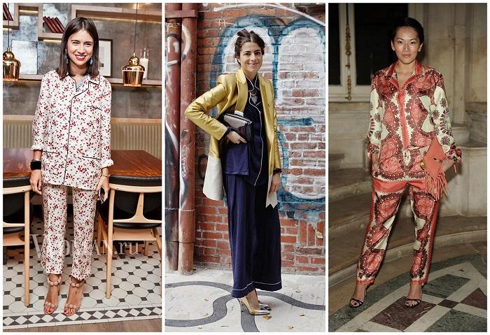 Пижамный стиль очень популярный в этом году