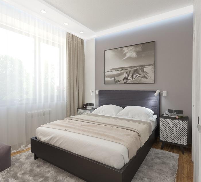 Очень уютная небольшая спальня