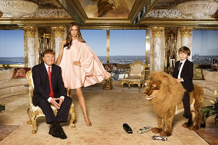 Дональд Тамп с семьей жили в пентхаусе в Трамп-тауэр