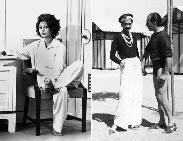 Коко Шанель первой ввела пижамные брюки