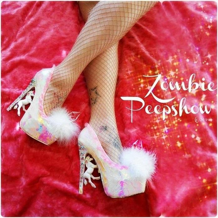 Обувь необычного бренда Zombie Peepshow