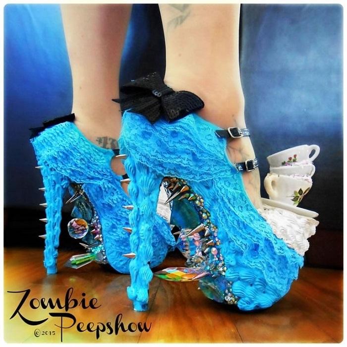 Обувь Zombie Pipshow - это слияние ужасов и пин-ап