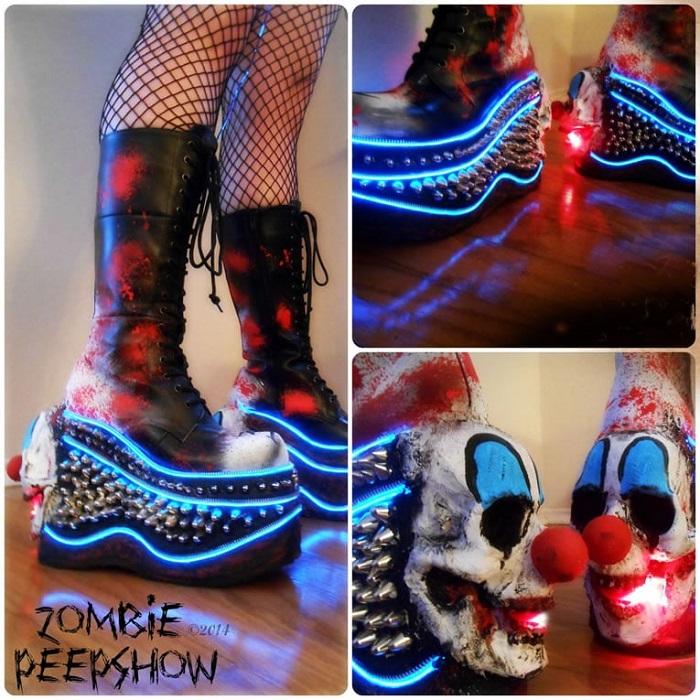 Каждая пара обуви Zombie Pipshow  украшается вручную