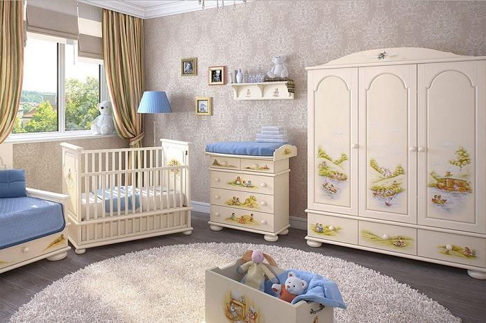 В детской комнате должно быть светло, сухо, тепло