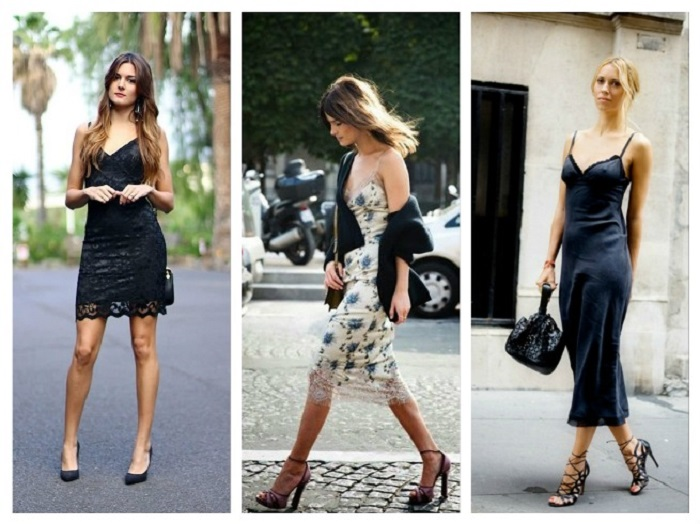Платья в бельевом стиле выглядят очень сексуально