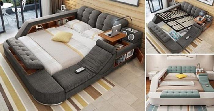Создана многофункциональная кровать, в которой хочется провести целый день