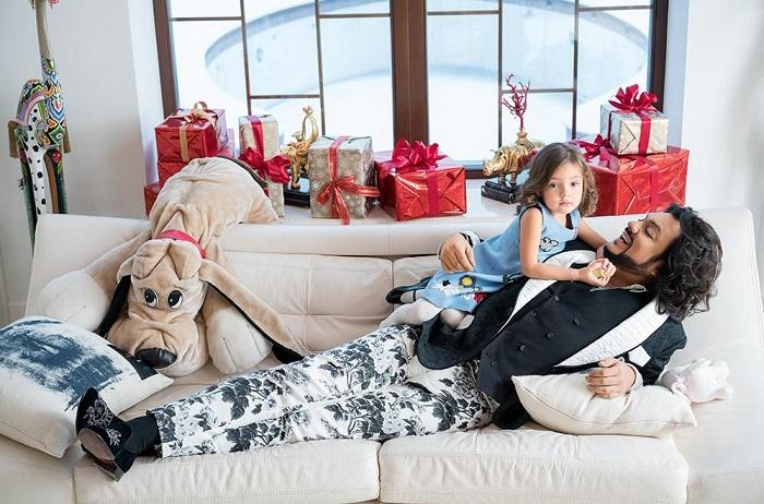 Филипп с пятилетней дочкой Аллой-Викторией