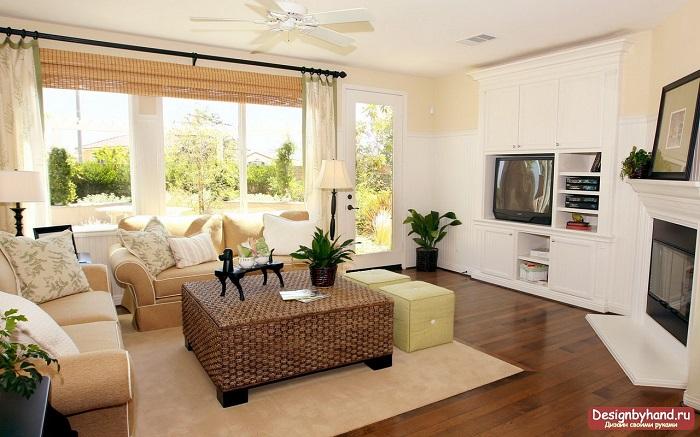 Комнату для гостиной нужно выбирать квадратной формы