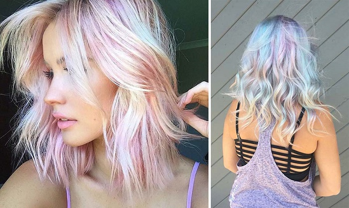 Голографические волосы - новый тренд 2017
